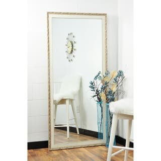 Multi Size BrandtWorks Vintage English Cream Floor Mirror - Antique White|https://ak1.ostkcdn.com/images/products/17674892/P23883913.jpg?impolicy=medium