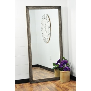 Multi Size BrandtWorks Simply Distressed Chocolate Floor Mirror - Brown
