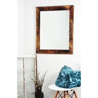 Multi Size BrandtWorks Marbled Mahogany Wall Mirror - Brown/Black