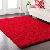 Caiden Red Shag Area Rug - 6'6 x 9'6