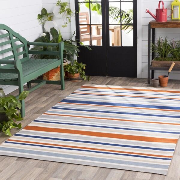 Shop Breisgau Traditional Striped Indoor Outdoor Area Rug