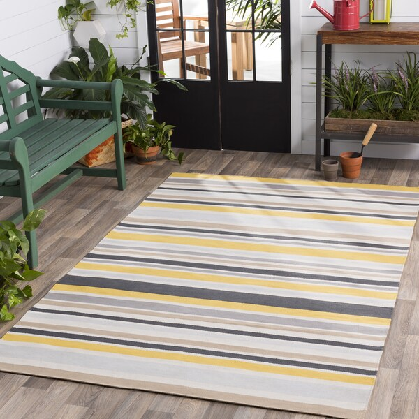 Breisgau Striped Indoor/ Outdoor Area Rug