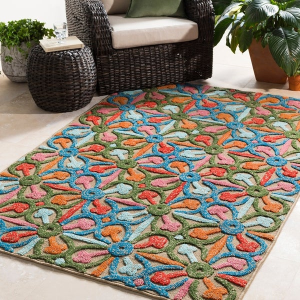 Corinium Colorful Floral Indoor/ Outdoor Area Rug