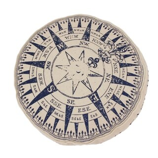 Round Natural Compass Printed Kids Pillow