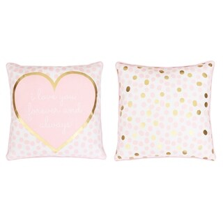 "Lara ""Love"" Reversible Foil Printed Kids Pillow"