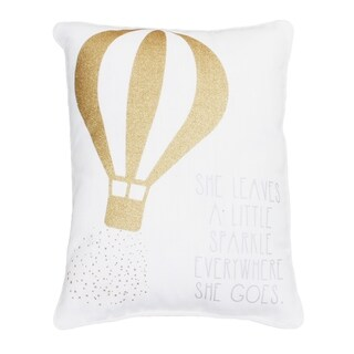 "Sarah ""She Leaves a Little Sparkle Wherever She Goes"" Sequined Kids Pillow"