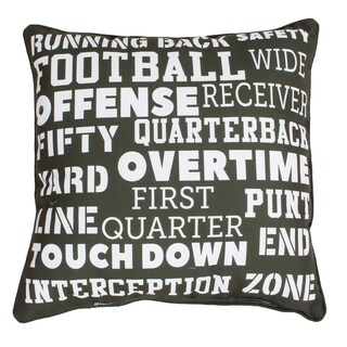 Franky Football Words Reversible Kids Pillow