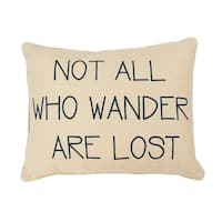Natural Willow World Wander Reversible Printed Kids Pillow