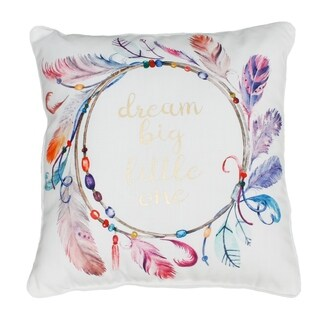 "Sharona ""Dream Big"" Watercolor Printed Kids Pillow"