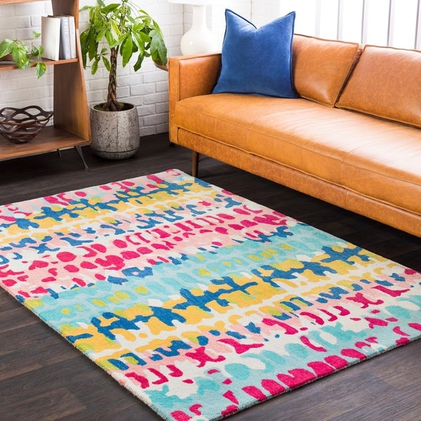 Everden Contemporary Abstract Area Rug - 5' x 7'6""