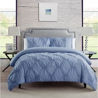 VCNY Home Marchella 3-piece Full/Queen Size Duvet Cover Set in White(As Is Item)