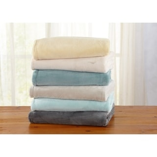 Jemma Collection Ultra Velvet Plush Oversize Throw Blanket in Solid Colors