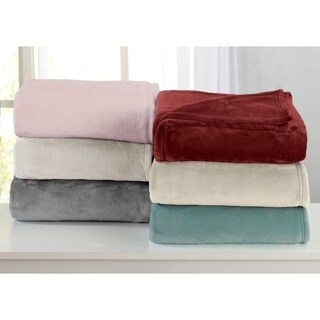 Portland Collection Ultra Velvet Plush Bed Blanket in Solid Colors