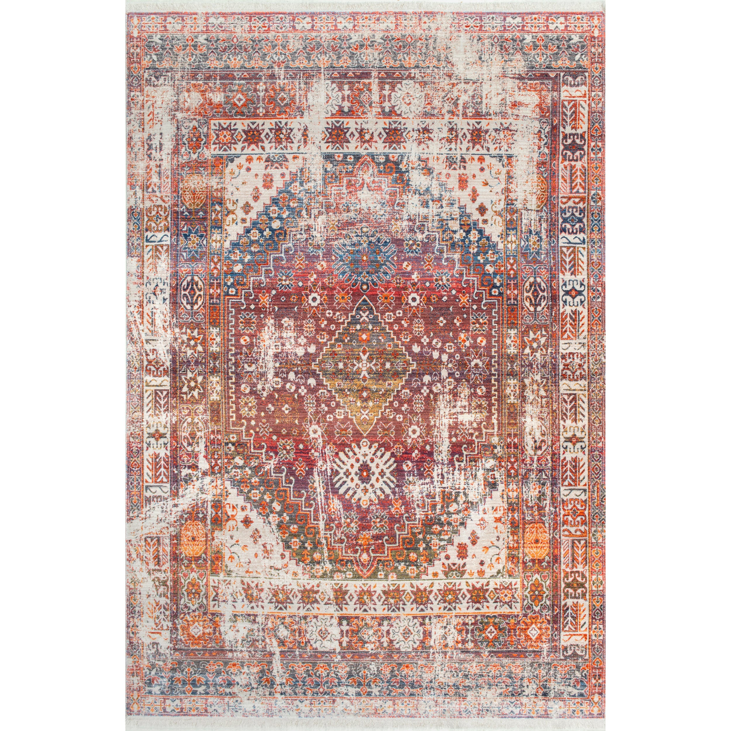 Nuloom Vintage Faded Olden Tribal Medallion Area Rug Ebay