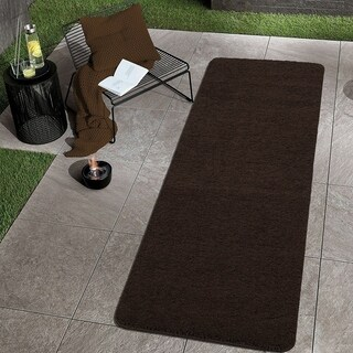 Sweethome Stores Luxury Collection Soft Non-Slip Shag Bath Rug, 20X59