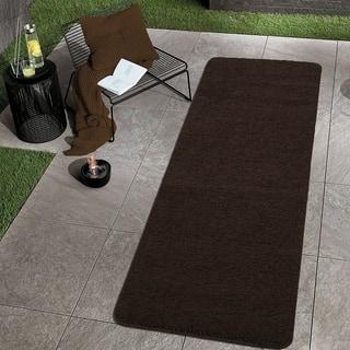 Nonskid Latex Bath Rugs Bath Mats Shop The Best Deals For Dec - Black and white tweed bath rug for bathroom decorating ideas