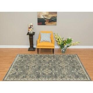 Westfield Home Royale Svana Blue/ Grey Oversized Area Rug (12'6 x 15')