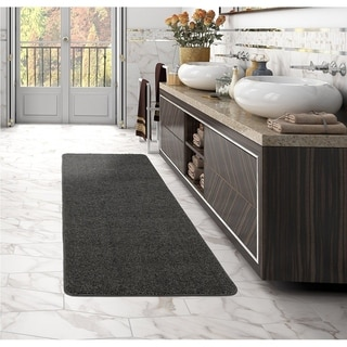 Sweethome Stores Luxury Collection Soft Non-Slip Shag Runner Rug, 2X6 - 2'2 x 6' (Option: Beige)