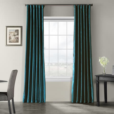 Buy Faux Silk Curtains Drapes Online At Overstock Our Best Window Treatments Deals