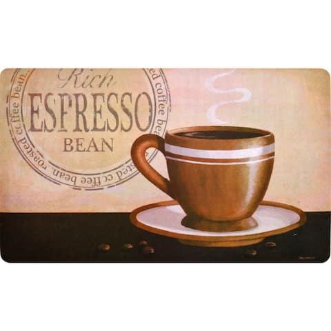"""Fashion Comfort Anti-Fatigue Kitchen Mats Rich Espresso (18"""" x 30"""") (Set of 2) - multi"""