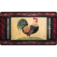 """Fashion Comfort Anti-Fatigue Kitchen Mats Vintage Rooster (18"""" x 30"""") (Set of 2)"""