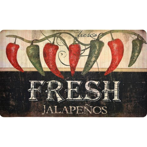 "Fashion Comfort Anti-Fatigue Kitchen Mats Jalapenos (18"" x 30"") (Set of 2) - multi"