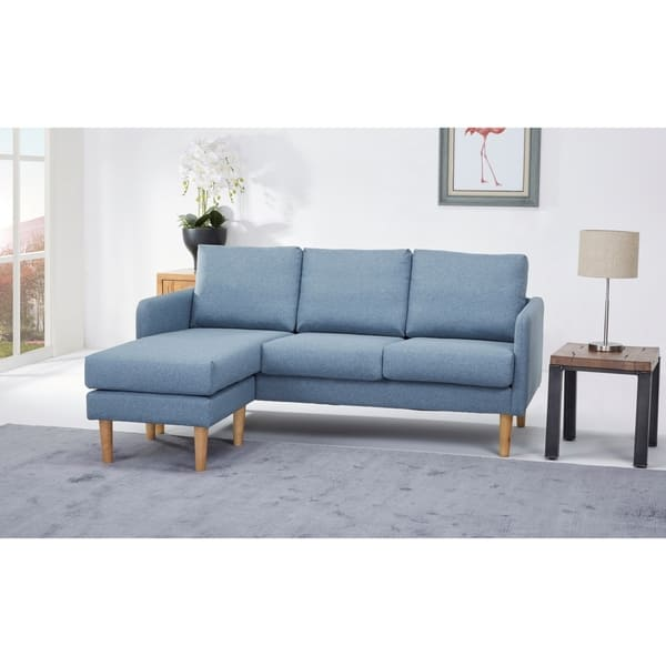 Cool Shop Fernley Chambray Reversible Sectional Sofa Free Bralicious Painted Fabric Chair Ideas Braliciousco
