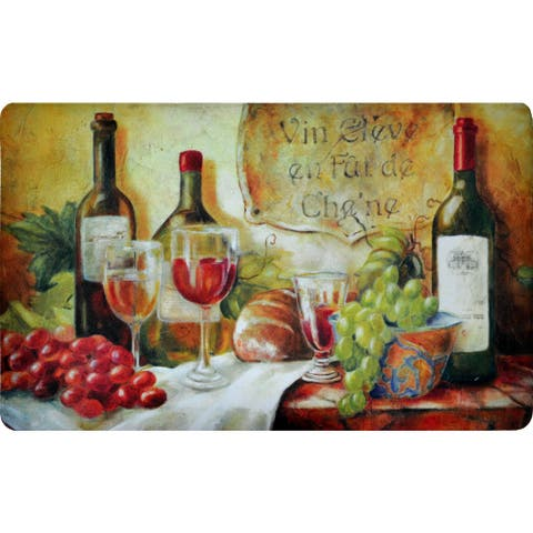 "Fashion Comfort Anti-Fatigue Kitchen Mats Wine Table (18"" x 30"") (Set of 2) - multi"