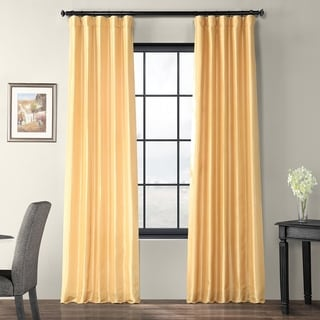 Exclusive Fabrics Faux Silk Taffeta Curtain