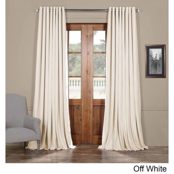 exclusive fabrics signature velvet extra wide grommet blackout curtain free shipping today. Black Bedroom Furniture Sets. Home Design Ideas