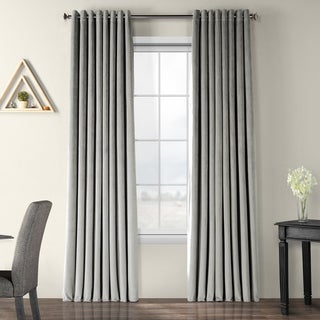 Link to Exclusive Fabrics Signature Velvet Extra Wide Grommet Blackout Curtain Similar Items in Curtains & Drapes