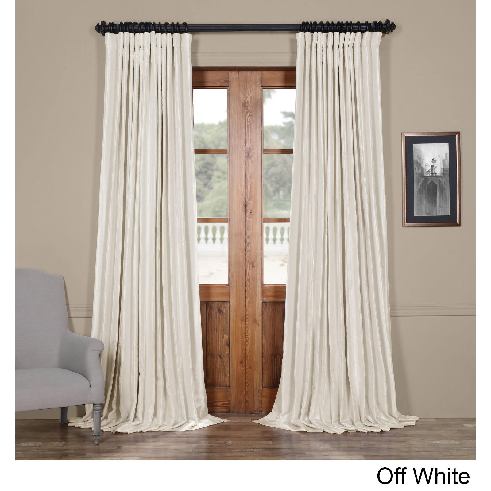 Exclusive Fabrics Faux Silk Extra Wide Blackout Curtain Ebay