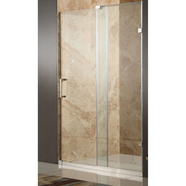 Anzzi Chief Polished Chrome Tempered Glassstainless Steel 60 Inch X