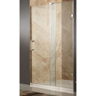 Anzzi Chief Polished Chrome Tempered Glass/Stainless Steel 60-inch x 72-inch Frameless Sliding Shower Door