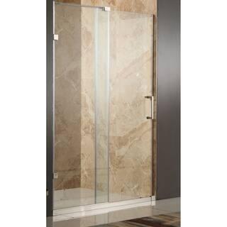 Anzzi Polished Chrome Steel/Glass Frameless Sliding Shower Door