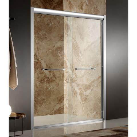 ANZZI Pharaoh 48 x 72 in. Framed Sliding Shower Door - Polished Chrome