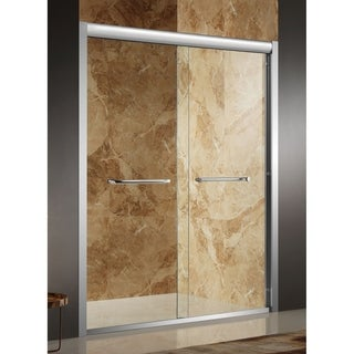 Anzzi Pharaoh Brushed Nickel Aluminum/Glass 60 x 72-inch Framed Sliding Shower Door