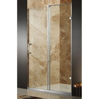 Anzzi Chief Brushed Nickel Stainless Steel/Glass 48 x 72-inch Frameless Sliding Shower Door