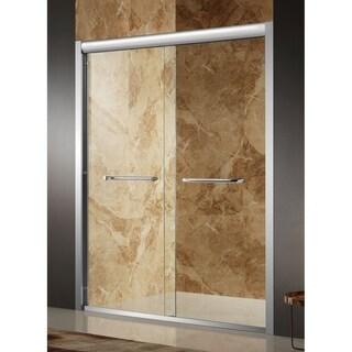 Anzzi Pharaoh Brushed Nickel Aluminum/Glass 60 x 72-inch Framed Sliding Shower Door