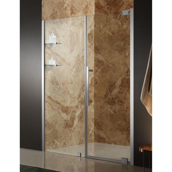 ANZZI Duke 60 x 72 in. Semi-Frameless Pivot Shower Door - Chrome
