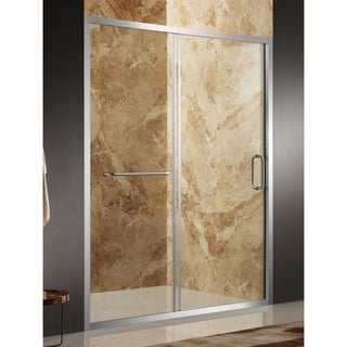 Anzzi Regent Brushed Nickel Aluminum Tempered Glass 60-inch x 72-inch Framed Sliding Shower Door