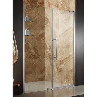 ANZZI Duke 48 x 72 in. Semi-Frameless Pivot Shower Door - Nickel