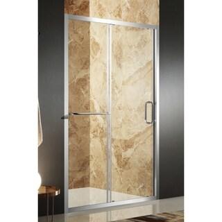 Anzzi Regent Polished Chrome Aluminum/Glass 60 x 72-inch Framed Sliding Shower Door