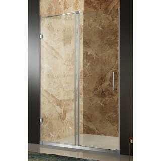 Anzzi Chief Brushed Nickel Stainless Steel/Tempered Glass 48-inch x 72-inch Frameless Sliding Shower Door