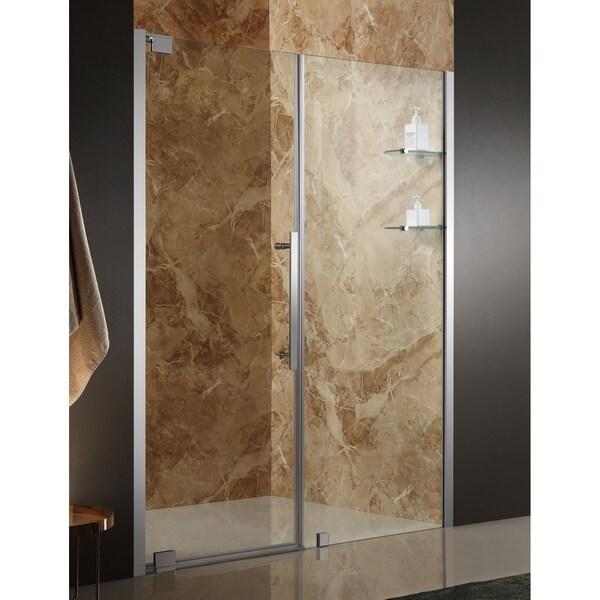 ANZZI Duke 48 x 72 in. Semi-Frameless Pivot Shower Door - Chrome