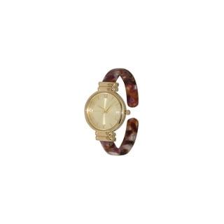 Link to Olivia Pratt Women's Trendy Gold-tone Bangle Watch Similar Items in Women's Watches