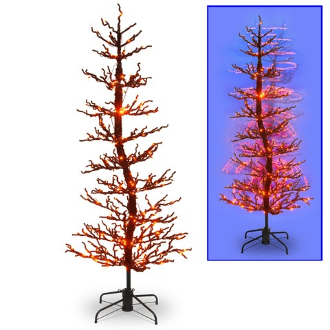 7 ft. Halloween Wobble Tree with Orange LED Lights