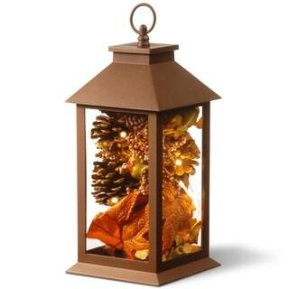 "15"" Autumn Lantern Decor with LED Lights"