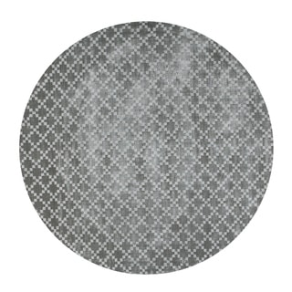 Eureka Diamond Grey Round Indoor Area Rug (5')