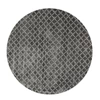 Eureka Diamond Indoor Midnight Black 5' Round Area Rug